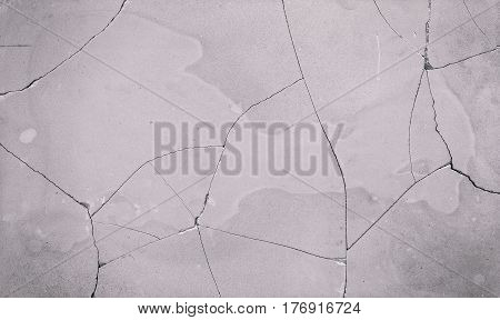 Cracked and Stained White Concrete Wall Background