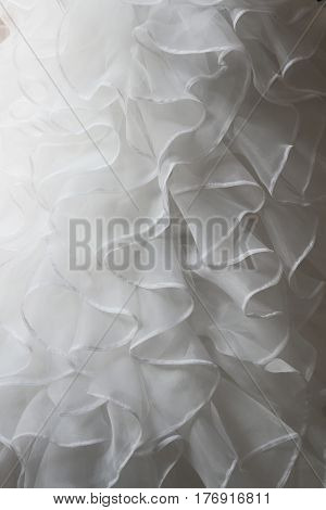 White Wedding dress detail - close-up photo