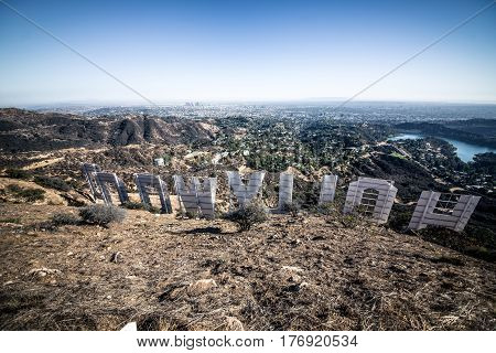 LOS ANGELESCA USA. September 25th2016. The Hollywood sign.