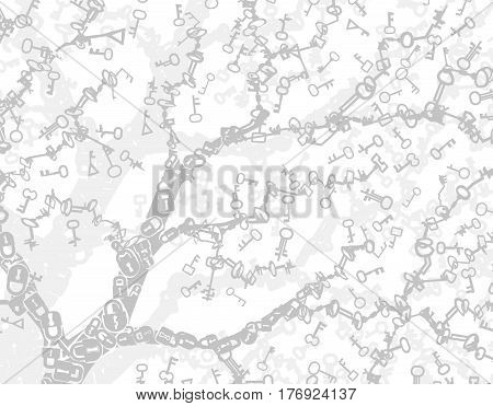 Key symbol abstract vector background light white, horizontal