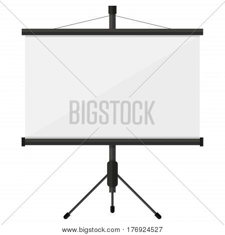 projector screen with financial report. Training staff meeting report business school.