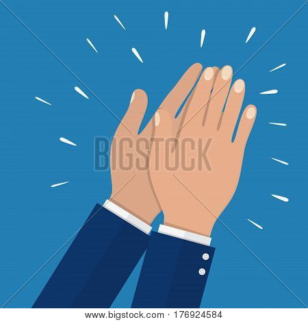 business partners hands applauding at meeting. Hands applauding isolated on a white background