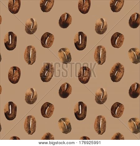 coffee beans seamless background