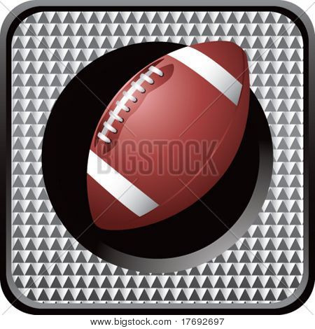 football on glossy diamond web button