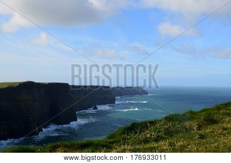 Absolutely beautiful Cliff's of Moher in County Clare Ireland.