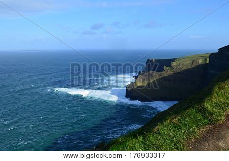 Gorgeous sweeping views of Ireland's Cliff's of Moher and Galway Bay.
