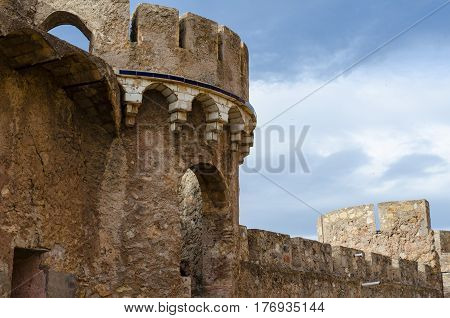The old castle ruins in Onda, Spain