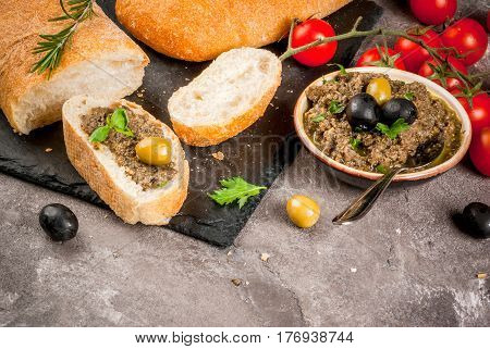 Traditional Italian Appetizer Tapenade