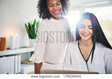 Happy Successful Young Women Entrepreneurs