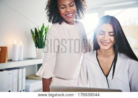 Happy Successful Young Women Entrepreneurs