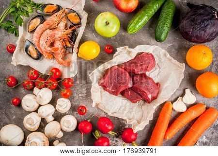 Selection Of Healthy Dietary Food