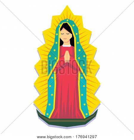 Vector Virgin Of Guadalupe Isolated On White Background