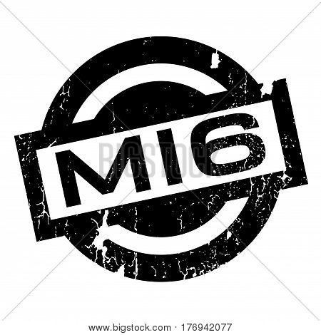 Mi6 rubber stamp. Grunge design with dust scratches. Effects can be easily removed for a clean, crisp look. Color is easily changed.