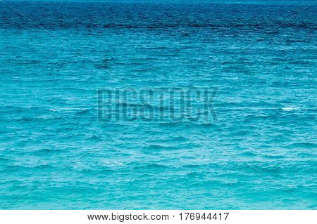 The isolated surface of the ocean water from the beach. Nassau, Bahamas.