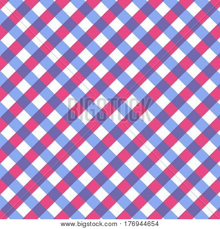 Checkered gingham fabric seamless pattern. Colorful plaid pattern scottish ornament