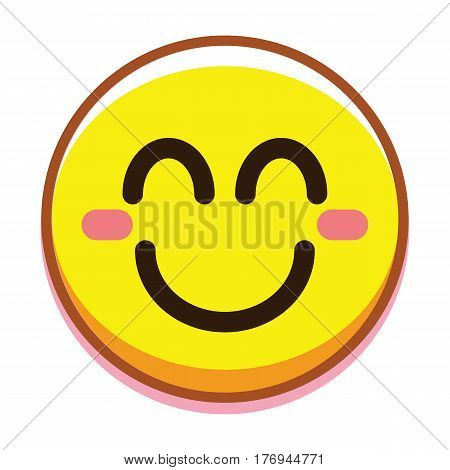 Vector Happy Face Isolated On White Background