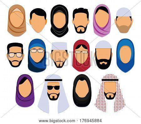 Vector Set Of Different Middle Eastern People