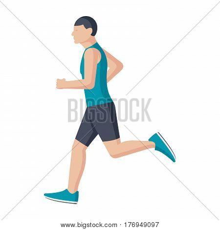 Running man, vector illustration in flat style