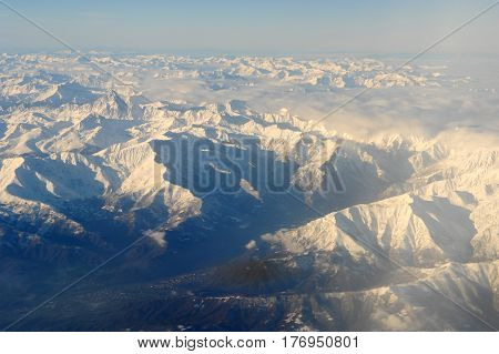 The Italian Alps Between Aosta And Susa