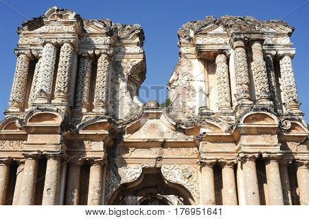 Ruins Of El Carmen Church At Antigua