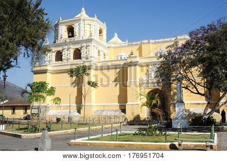 Church Of Merced At Antigua On Guatemala