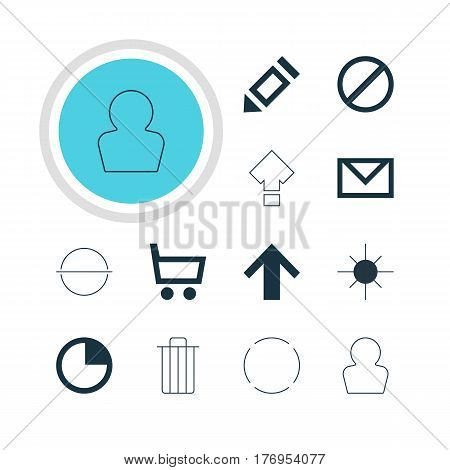 Vector Illustration Of 12 Member Icons. Editable Pack Of Avatar, Top, Full Brightness And Other Elements.