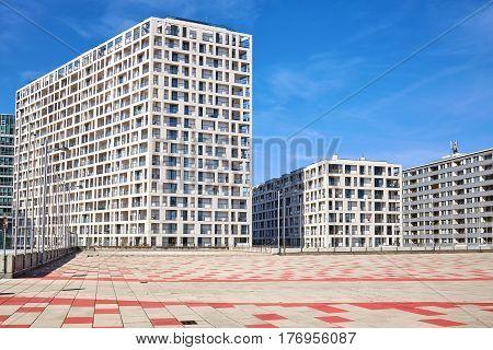 Modern Residential Buildings In Vienna, Austria.