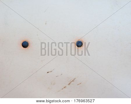 off white paper backgrounds with two holes cut