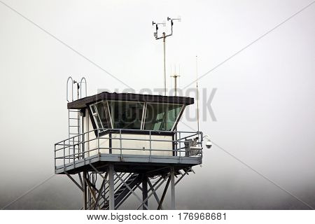Coast Guard Tower Overlooking the Pacific Ocean