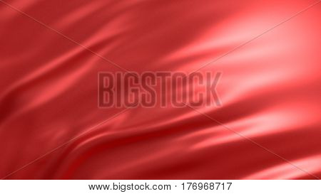 Background with red silk. Graphic illustration. 3D rendering.