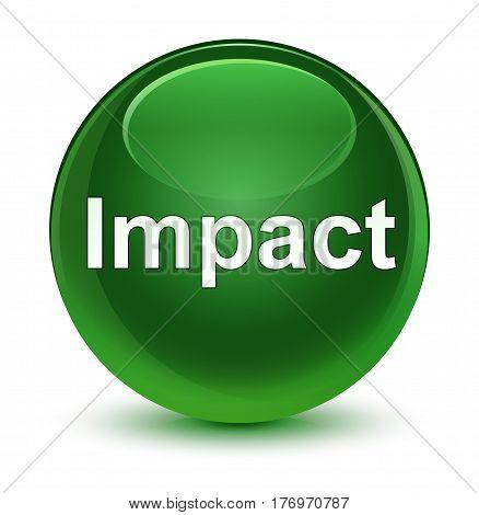 Impact Glassy Soft Green Round Button
