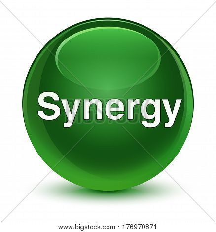 Synergy Glassy Soft Green Round Button