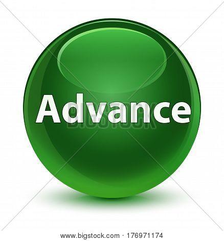 Advance Glassy Soft Green Round Button