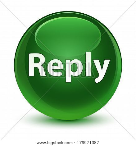 Reply Glassy Soft Green Round Button