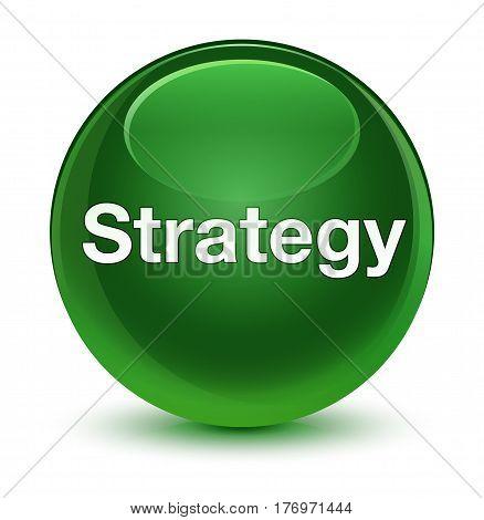 Strategy Glassy Soft Green Round Button