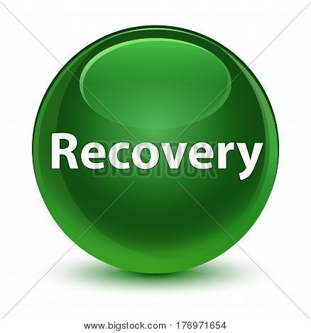 Recovery Glassy Soft Green Round Button