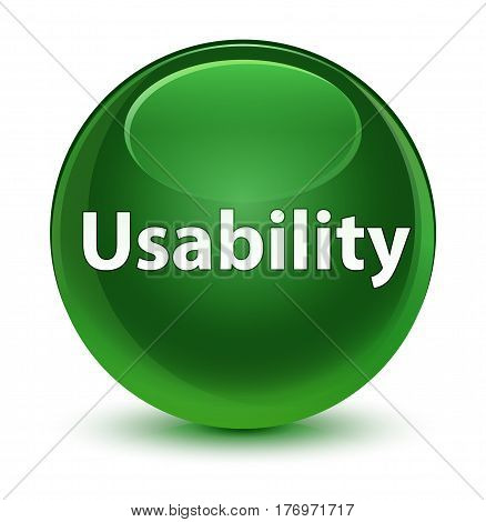 Usability Glassy Soft Green Round Button