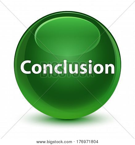 Conclusion Glassy Soft Green Round Button