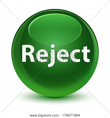 Reject Glassy Soft Green Round Button