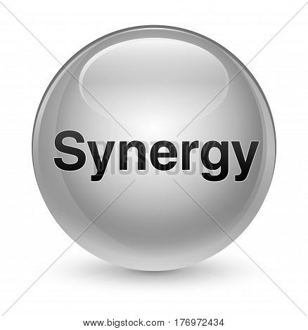 Synergy Glassy White Round Button