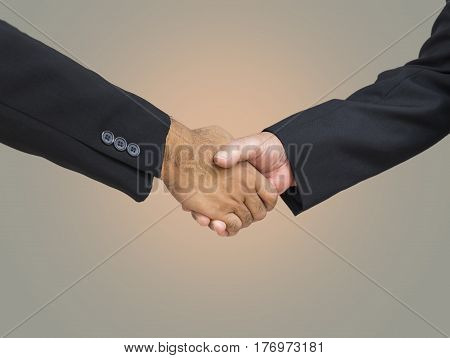 abstract businessman shakehand for commitment - can use to display or montage on product poster