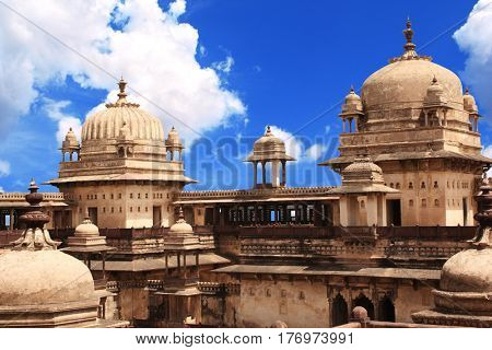 Royal palace in Orcha in Tikamgarh district of Madhya Pradesh state, India