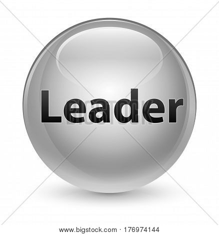 Leader Glassy White Round Button