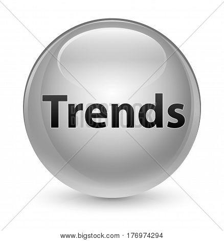 Trends Glassy White Round Button
