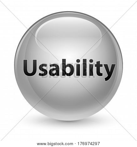 Usability Glassy White Round Button