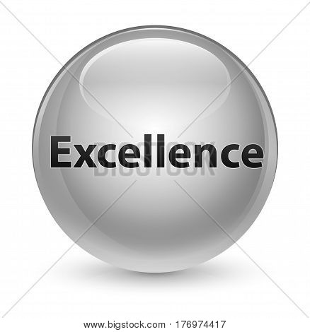 Excellence Glassy White Round Button