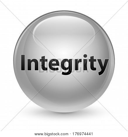 Integrity Glassy White Round Button