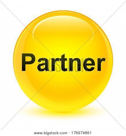 Partner Glassy Yellow Round Button