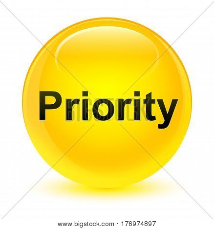 Priority Glassy Yellow Round Button