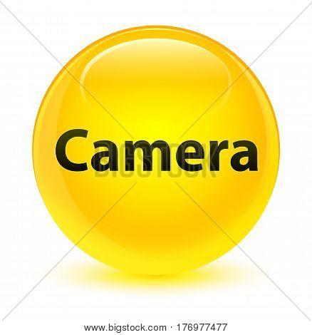 Camera Glassy Yellow Round Button